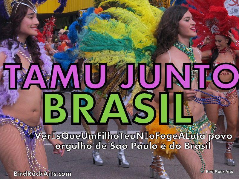 #tamujuntoBrasil, #VerásQueUmFilhoTeuNãoFogeALuta