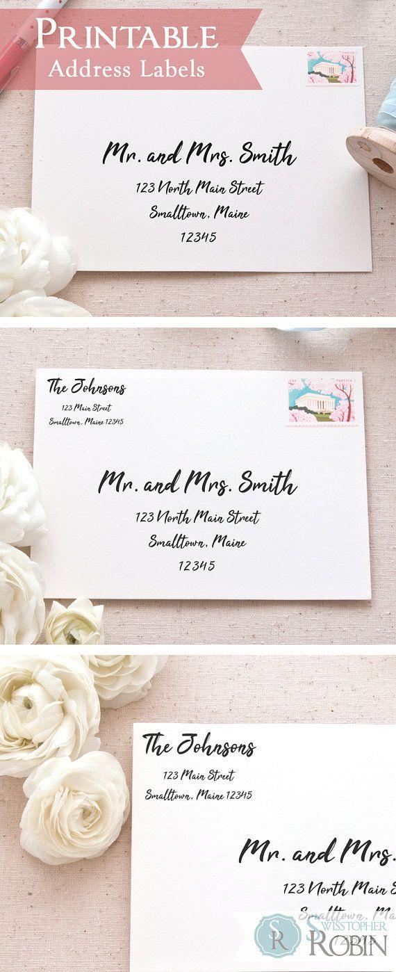 Brush Calligraphy Address Label Bundle Printable Mailing Address