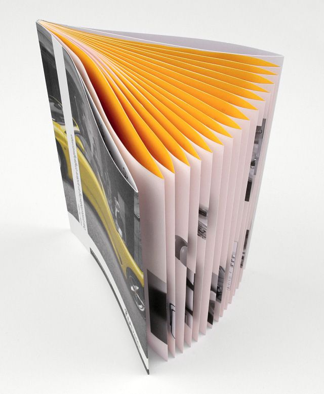 french fold with interior color binding book design editorial