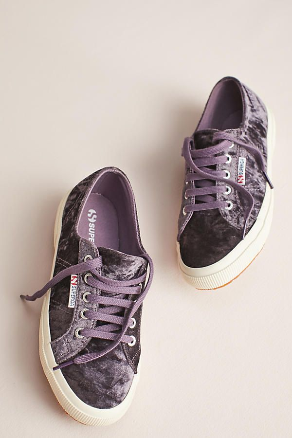 Slide View: 5: Superga Velvet Sneakers