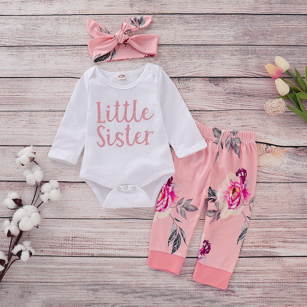 3Pc Newborn Baby Girl Clothes Short Sleeve Ruffled Romper Shirt Floral Shorts Pants Headband Outfit Set