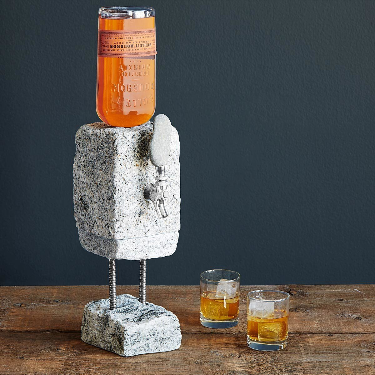 Tap Your Favorite Spirits In Geologic Style With This Cobbled Granite Drink Dispenser Complete With Leak Proof Drink Dispenser Liquor Dispenser Best Dad Gifts
