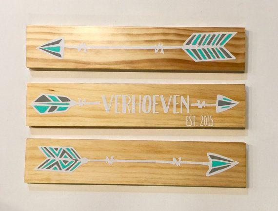 Set of 3 Wood Arrows Wood Plank Arrow Arrow Sign Painted Arrow ...