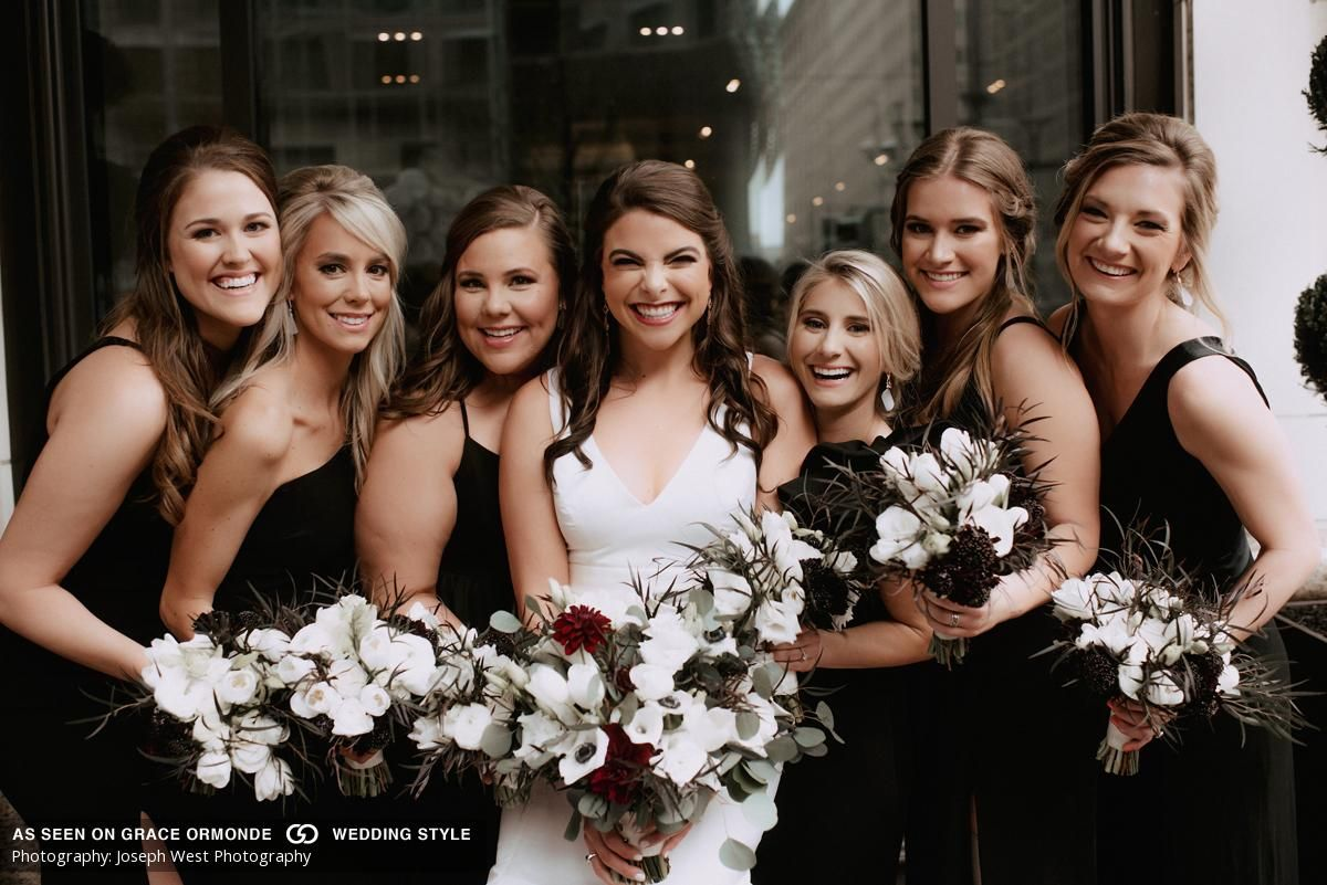 A Romantic and Moody Wedding at The Hobby Center for the ...