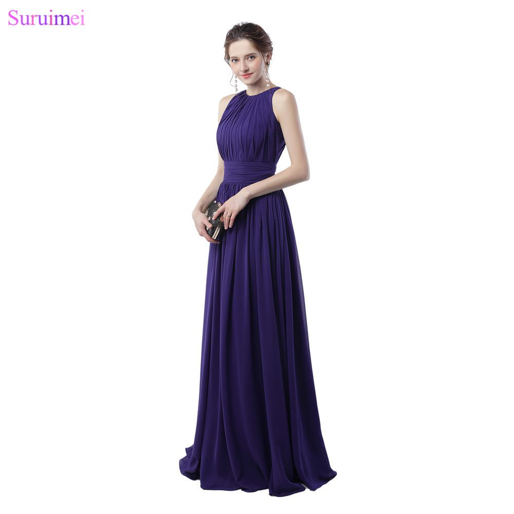 Purple bridesmaid dresses off the shoulder elegant zippered back