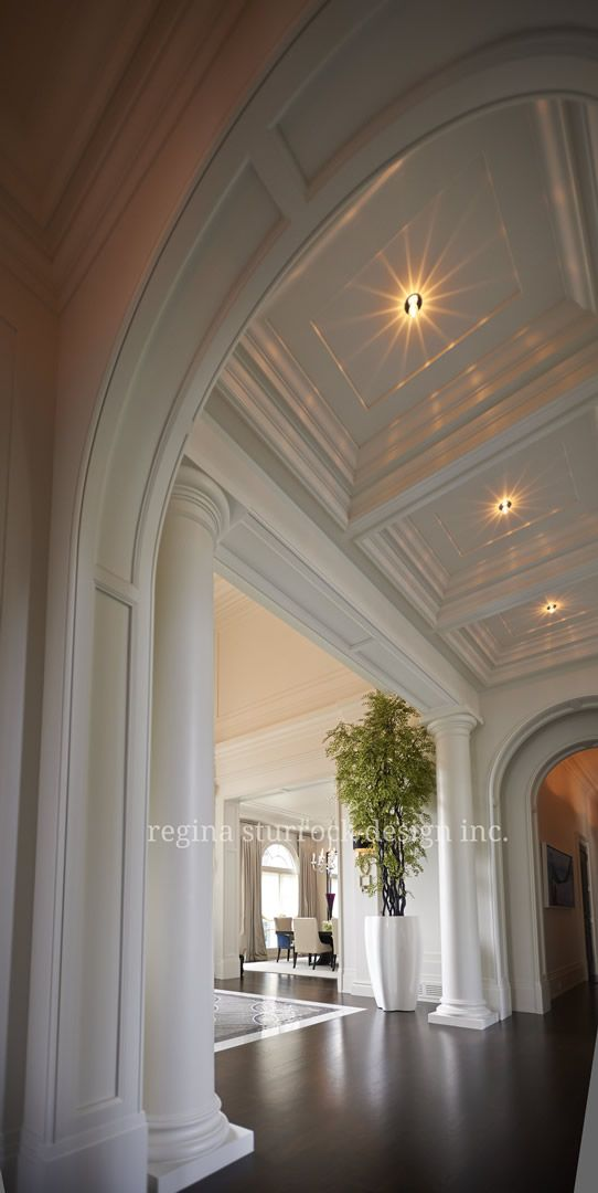 Layering Of Clical Archways Columns And Paneling Creates A Beautiful Architectural E Burlington Interior Design Project Contemporary Clicism