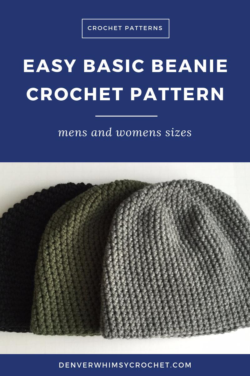 Crochet Pattern Mens Easy Beanie Hat Crochet Hat Pattern For Man Easy Crochet Beanie Pattern For Man Man Crochet Beanie Pattern Crochet Hats Crochet Beanie Pattern Crochet