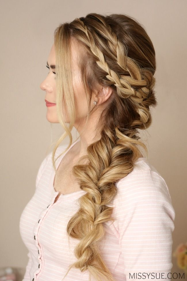 Mermaid Side Braid Braids For Long Hair Braided Hairstyles Prom Hairstyles For Long Hair