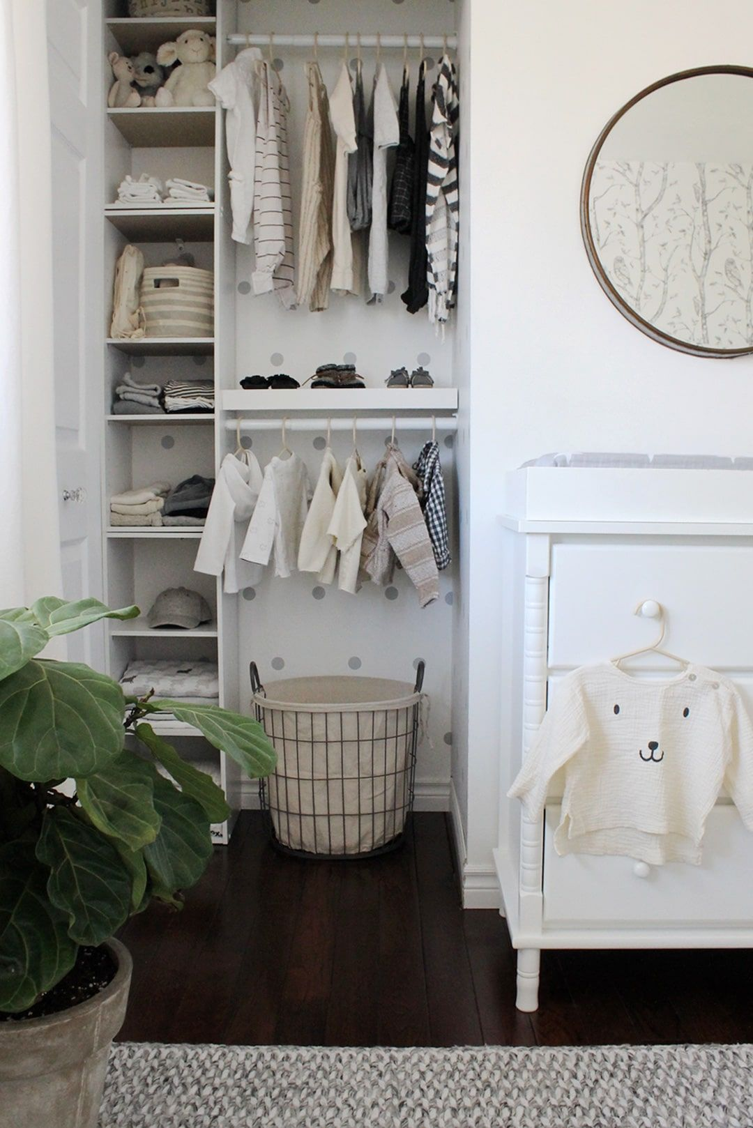 Now This is How to Organize a Nursery Closet Nursery