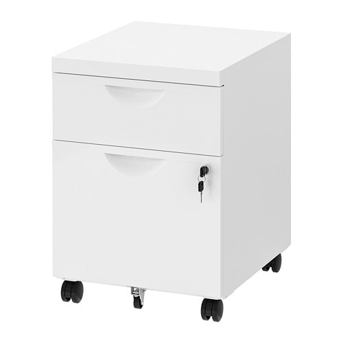 Erik White Drawer Unit W 2 Drawers On Castors 41x57 Cm Ikea Drawer Unit Drawers Ikea