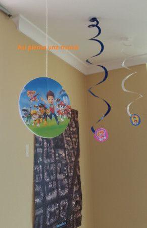Decoraci n de cumplea os infantil de la patrulla canina for Diy decoracion cumpleanos