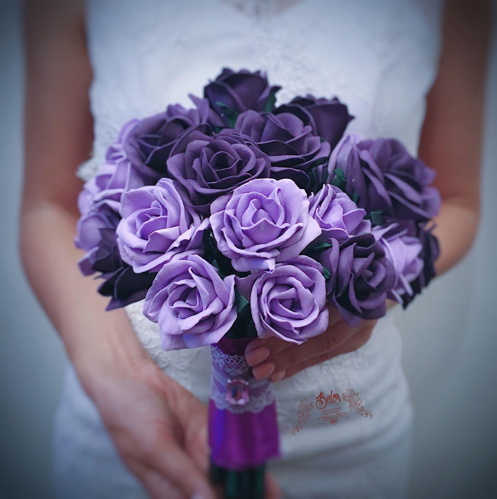 Purple Wedding Bouquet Purple And Lavender Wedding Bouquet 9
