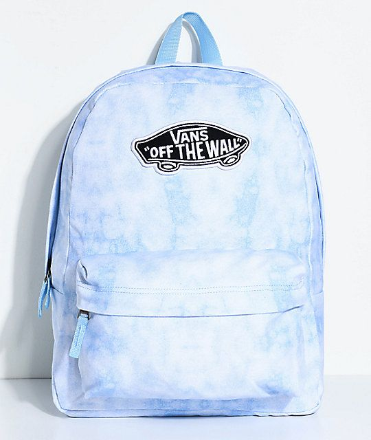 61d3945052065 Vans Realm Blue Cloud Wash 22L Backpack in 2019 | Cute buying ideas ...