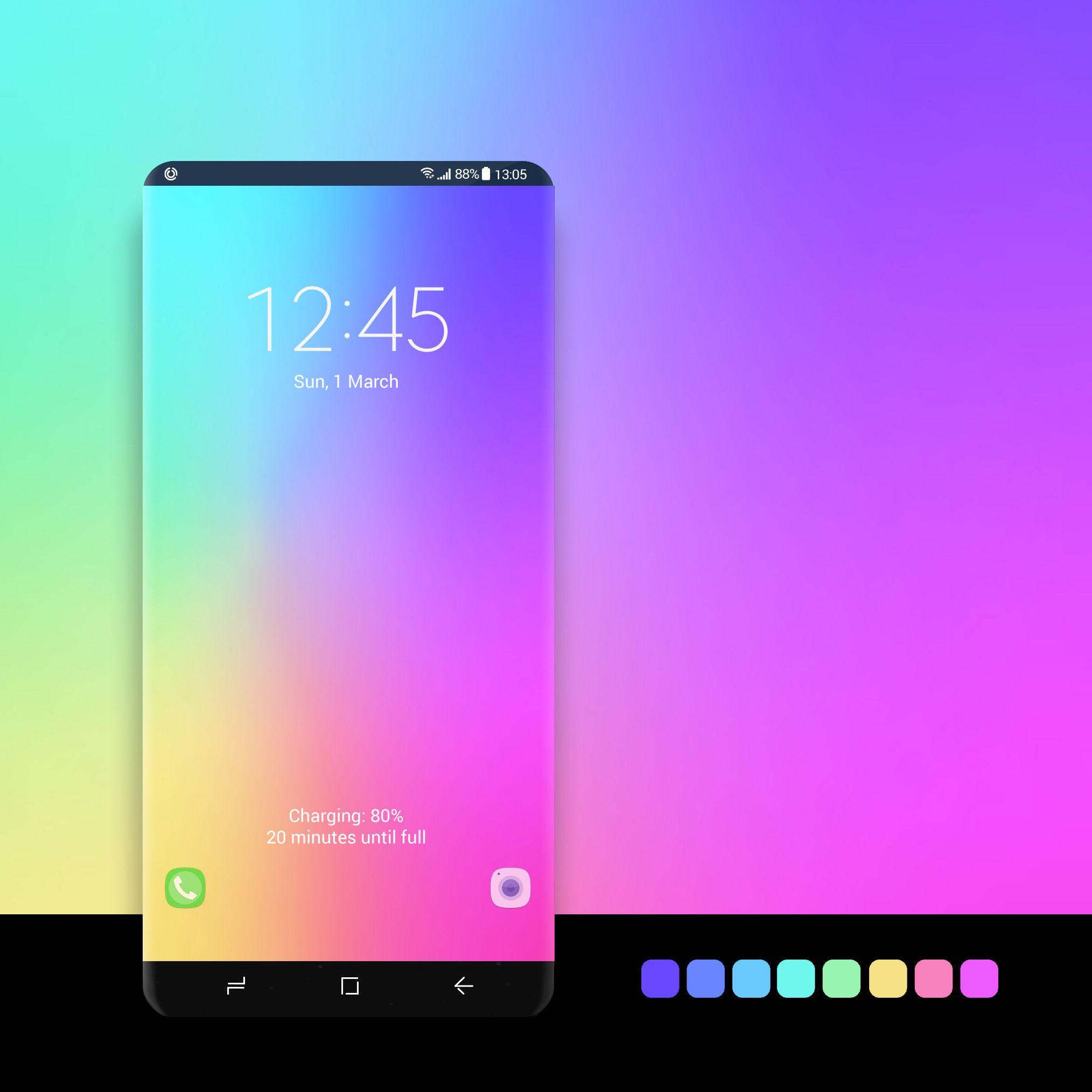 Smooth Rainbow Samsung Galaxy Wallpaper Galaxy Samsung Galaxy