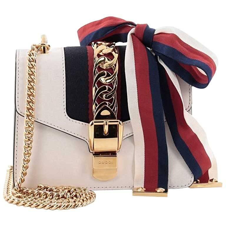 ece5bd63a736 Gucci Sylvie Chain Shoulder Bag Leather Mini | From a collection of ...