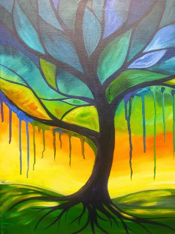 Hart Party Presents The Perfect Online Tree Painting Lesson For