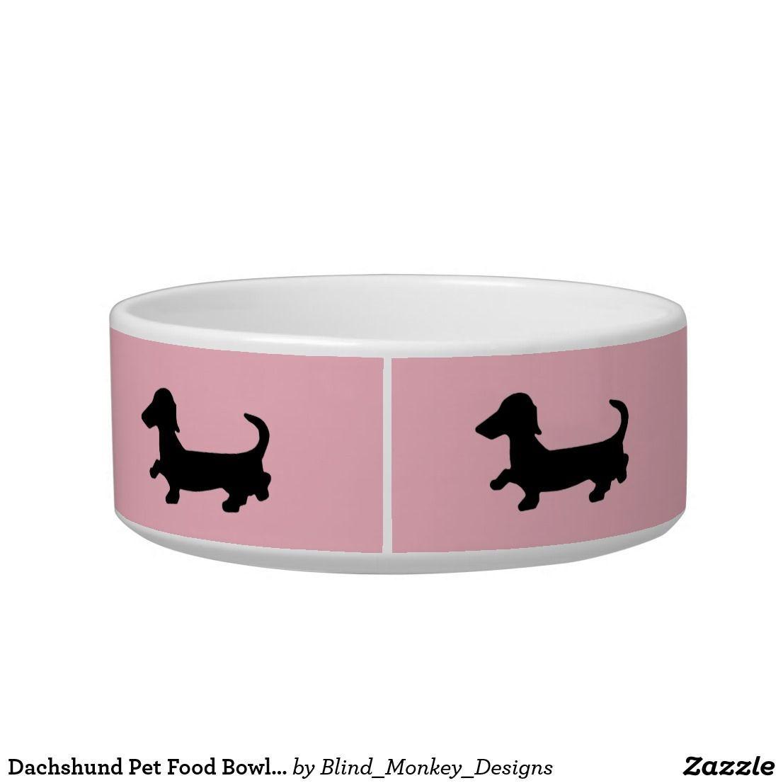 Dachshund Pet Food Bowl Wiener Dog Doxie Dish Dachshundgifts