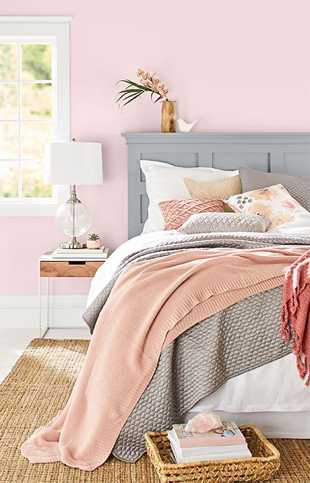 Paint Color Ideas For A Coordinated Bedroom And Bathroom Pink Bedroom Decor Rose Bedroom Pink Bedrooms