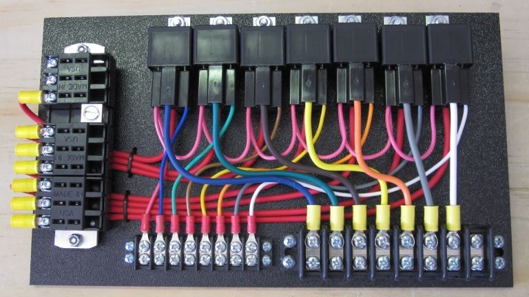 7 Relay Custom Relay Panel With Sockets Electricity Automotive Electrical Electric Cars