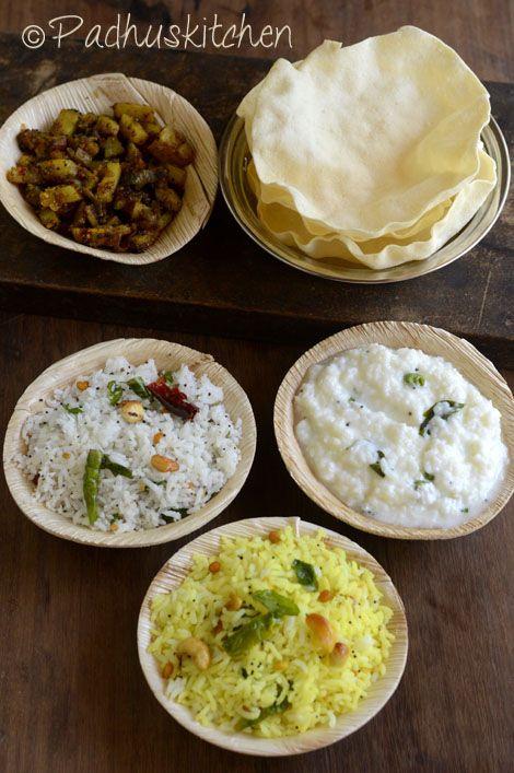 Padhuskitchen South Indian Variety Rice Lunch Menu Ideas Easy Va