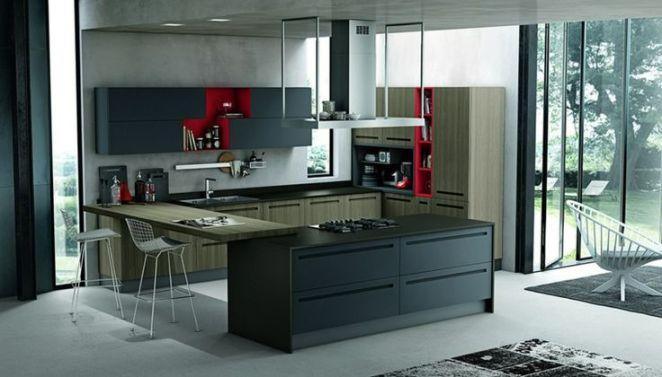 Idée relooking cuisine placard de cuisine moderne et déco tendance ...