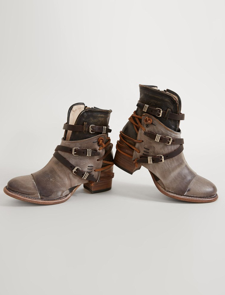 Leather Ankle Boots Freebird By Steven Crue Ankle Boot