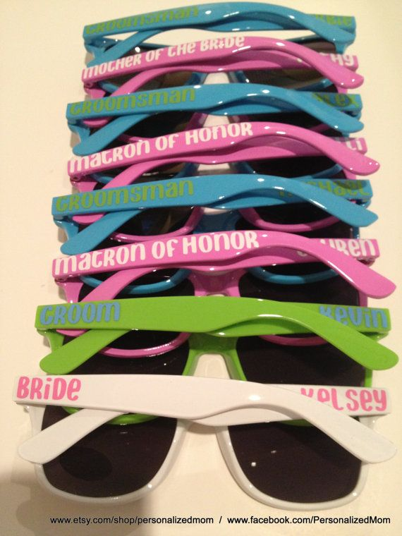Bachelorette Party Gift Bridal Personalized Sunglasses Groomsman Family Reunion Vacation Wedding Favors