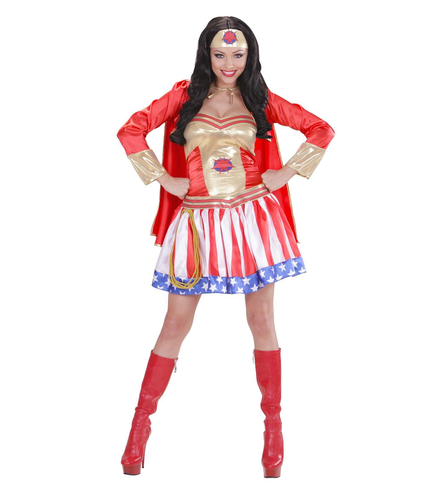 80 s virgin air hostess costume red 208103 7 £42 95 fancydress wonderw disfraz de super hero girl incluye vestido con capa y cubrecabeza