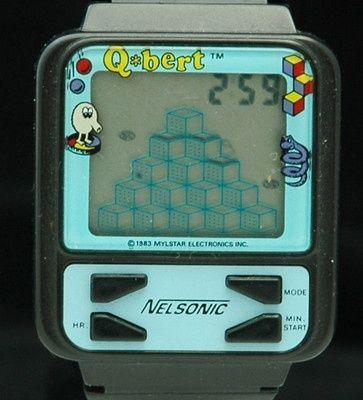 Qbert Watch From Nelsonic 1983 Qbert Retrogaming Lcdgames