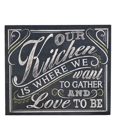 Another great find on #zulily! 'Our Kitchen' Wall Sign #zulilyfinds