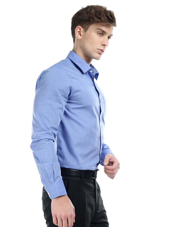 Arrow Men Blue Slim Fit Formal Shirt | Men Formal Shirts ...