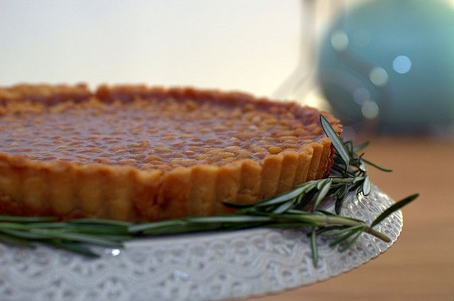 pine-nut tart with rosemary | Sassy Radish This went together without any problem!  Very good!  Don't let the rosemary scare you; it's very subtle.  Would like to try with pecans or walnuts.  Finish with a little whipped cream or ice cream.