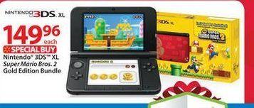 Nintendo 3ds Xl Super Mario Bros 2 Gold Edition Bundle