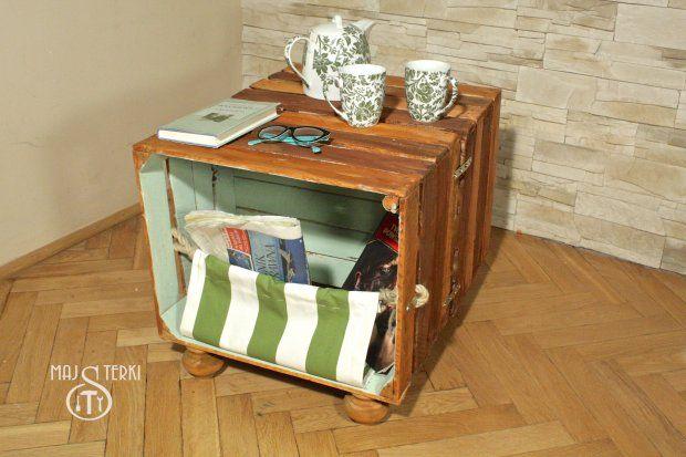 Zrob To Sam Stolik Z Drewnianych Skrzynek Wooden Crate Furniture Furniture Wooden Crates