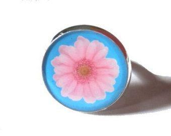 Pink Flower Ring Pink Ring Pink Flower Flower by ReasonToBePretty