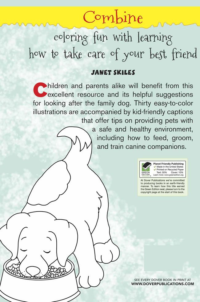 How to Care for Your Dog: A Color & Learn Guide for Kids Dover ...
