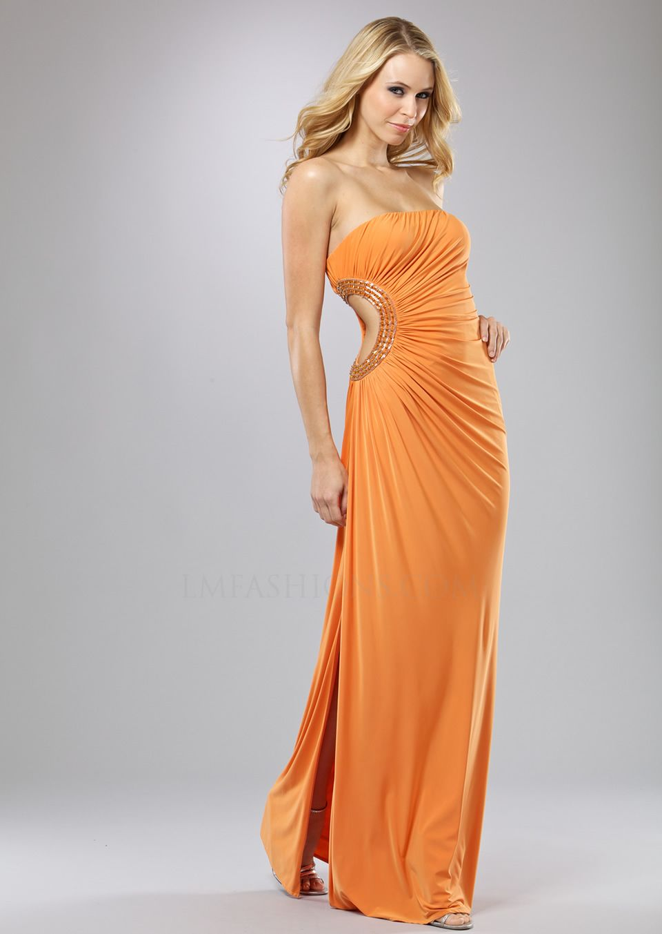 Orange evening dresses fashion trend prom dress party vackra