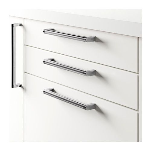 ORRNÄS Handle, stainless steel stainless steel color | Kitchen pulls ...
