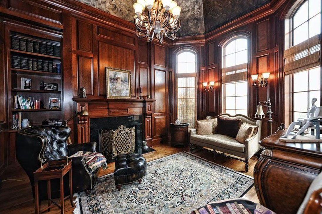 44 Comfortable Masculine Living Room Design Ideas ...