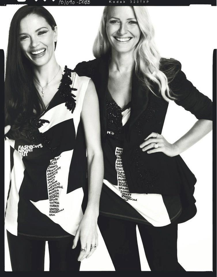 CFDA designers Keren Craig & Georgina Chapman of @Jenna Hedges-Paul all spruced up for #FNO
