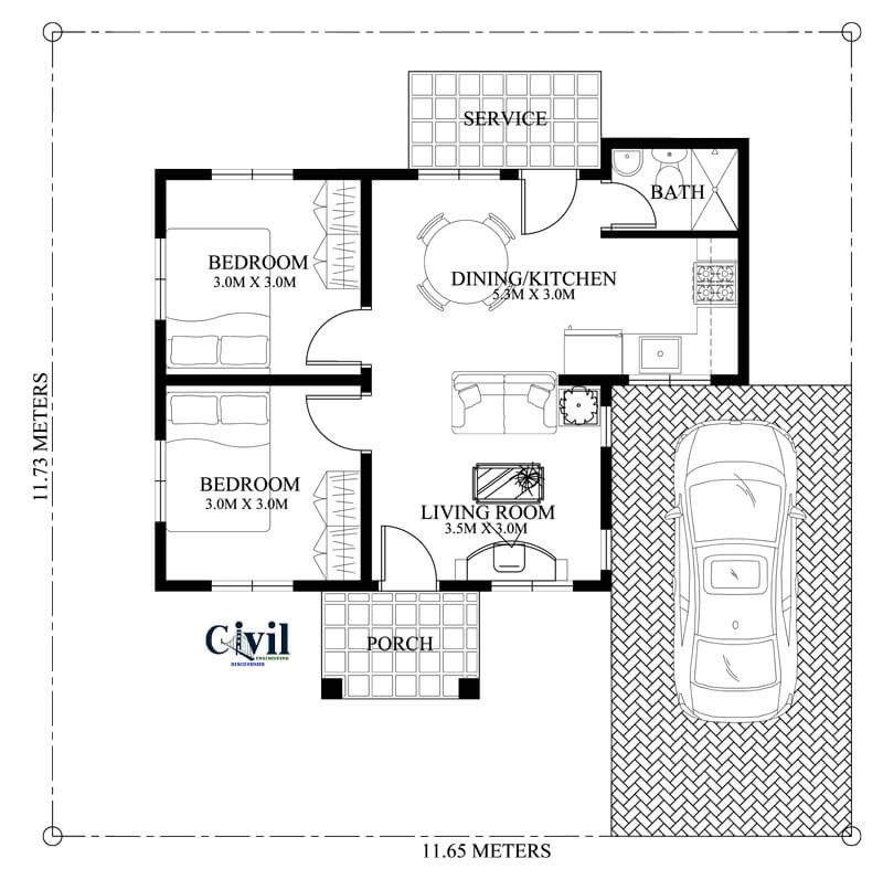 House Plans Ideas For A Comfortable Living To See More Read It In 2020 Bungalow House Design Small House Design Plans Modern Bungalow House