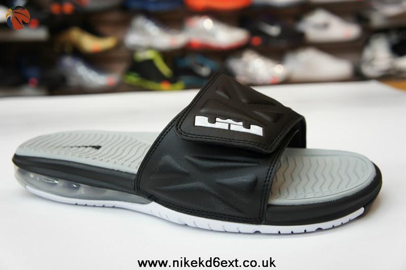 promo code 53ae3 fc525 Black White Strata Grey 554713 010 Nike Air LeBron Slide 2
