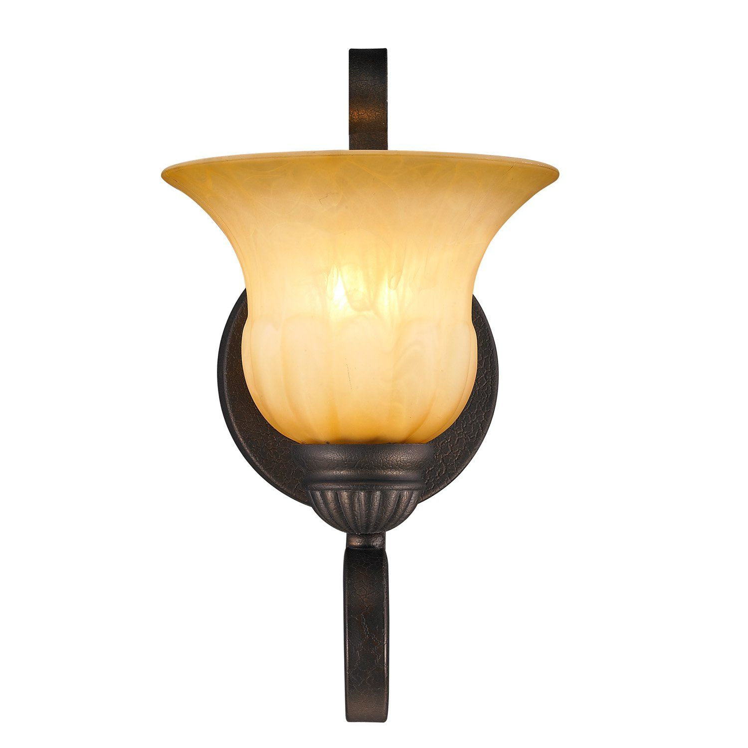 Mayfair Light Wall Sconce in Leather Crackle with Creme Brulee
