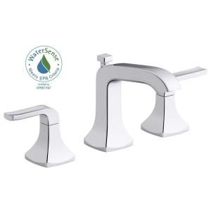 Kohler Rubicon 8 In Widespread 2 Handle Bathroom Faucet In Polished