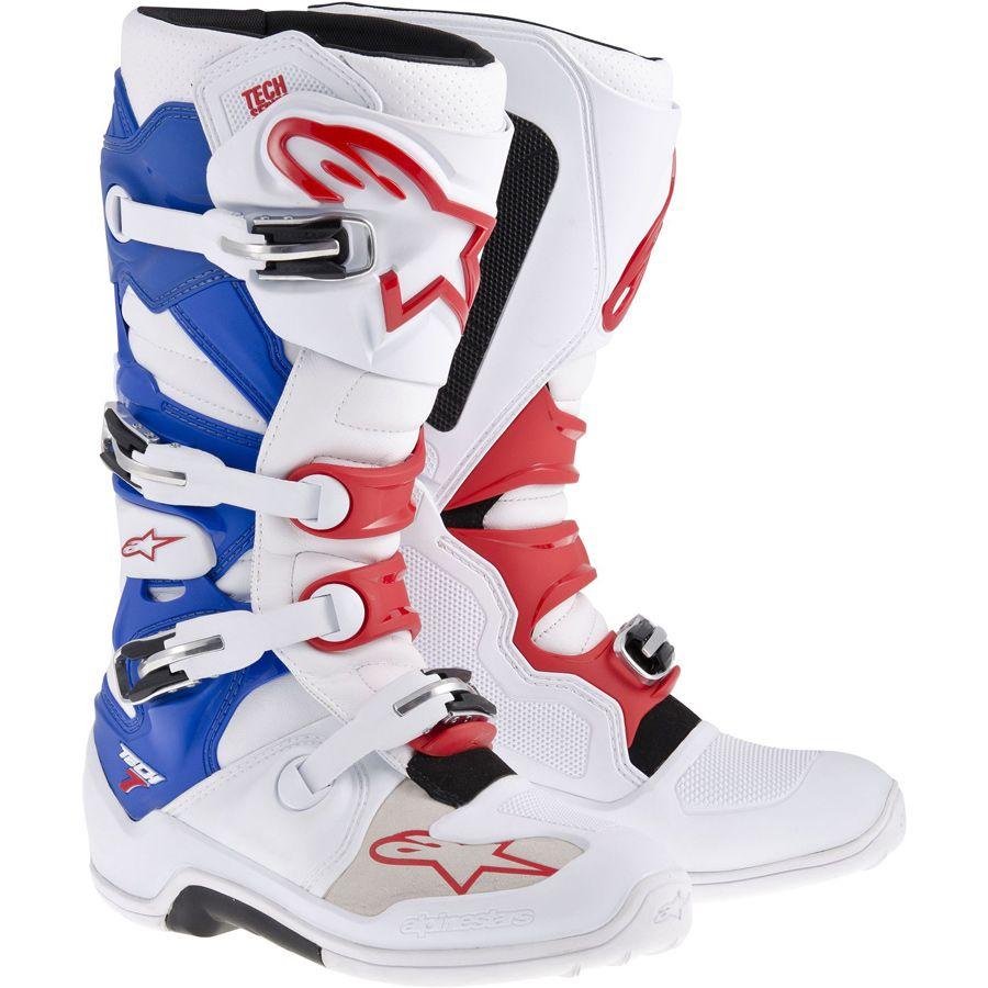 2014 New Tech 7 Motocross Boots - White Red Blue - 2014 Alpinestars  Motocross Kit -
