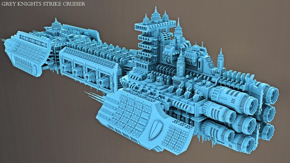 Grey Knights Strike Cruiser Battlefleet Gothic With Images