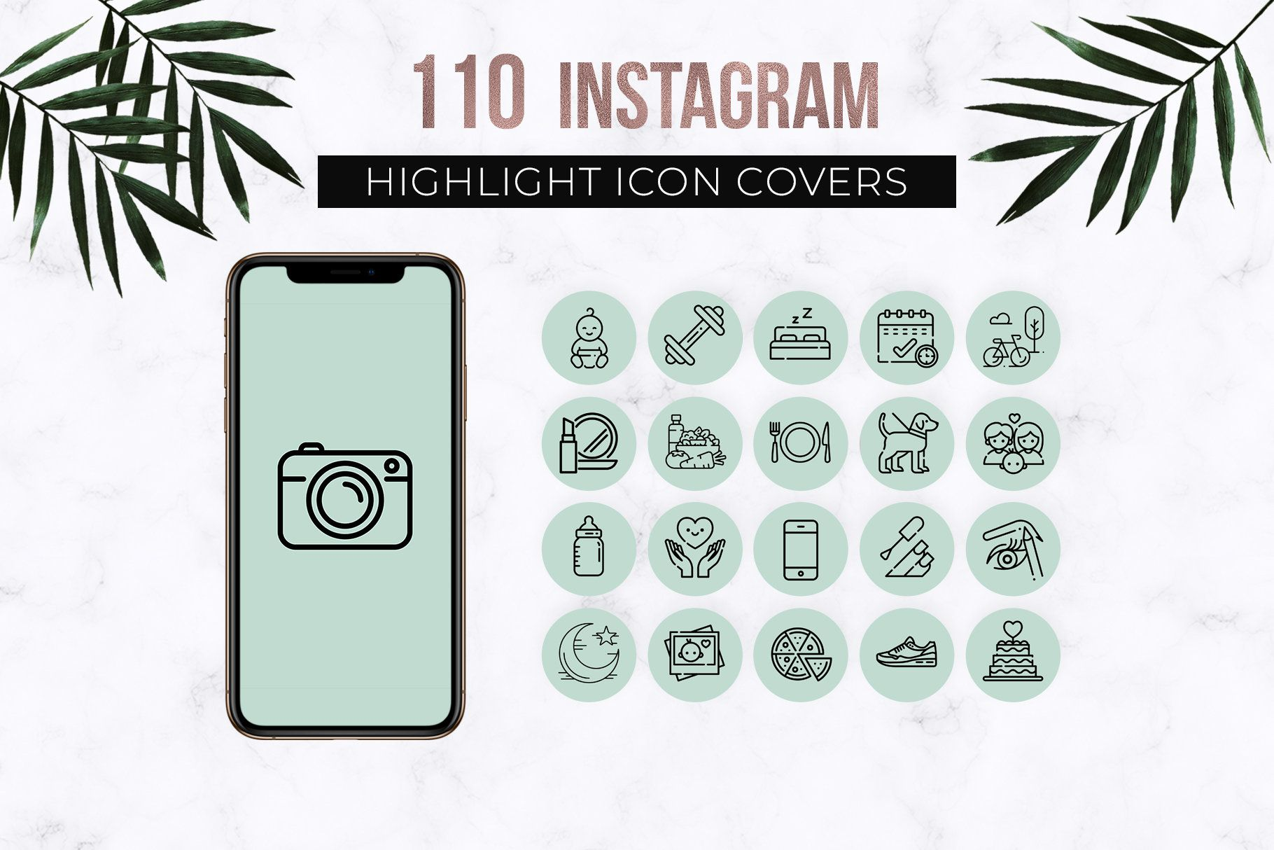 Mint Instagram Story Highlight Icons, Instagram Story