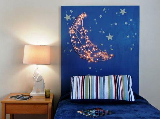 Kinderzimmer Bett Beleuchtung LED Lichterkette Wohnung - schlafzimmer beleuchtung led