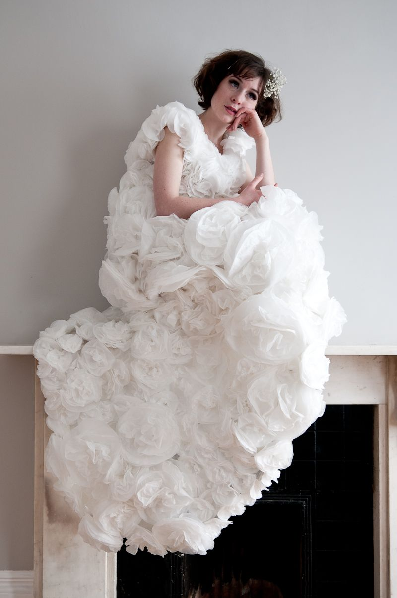 Paper couture coffee filters very cheap wedding dress for Very cheap wedding dress