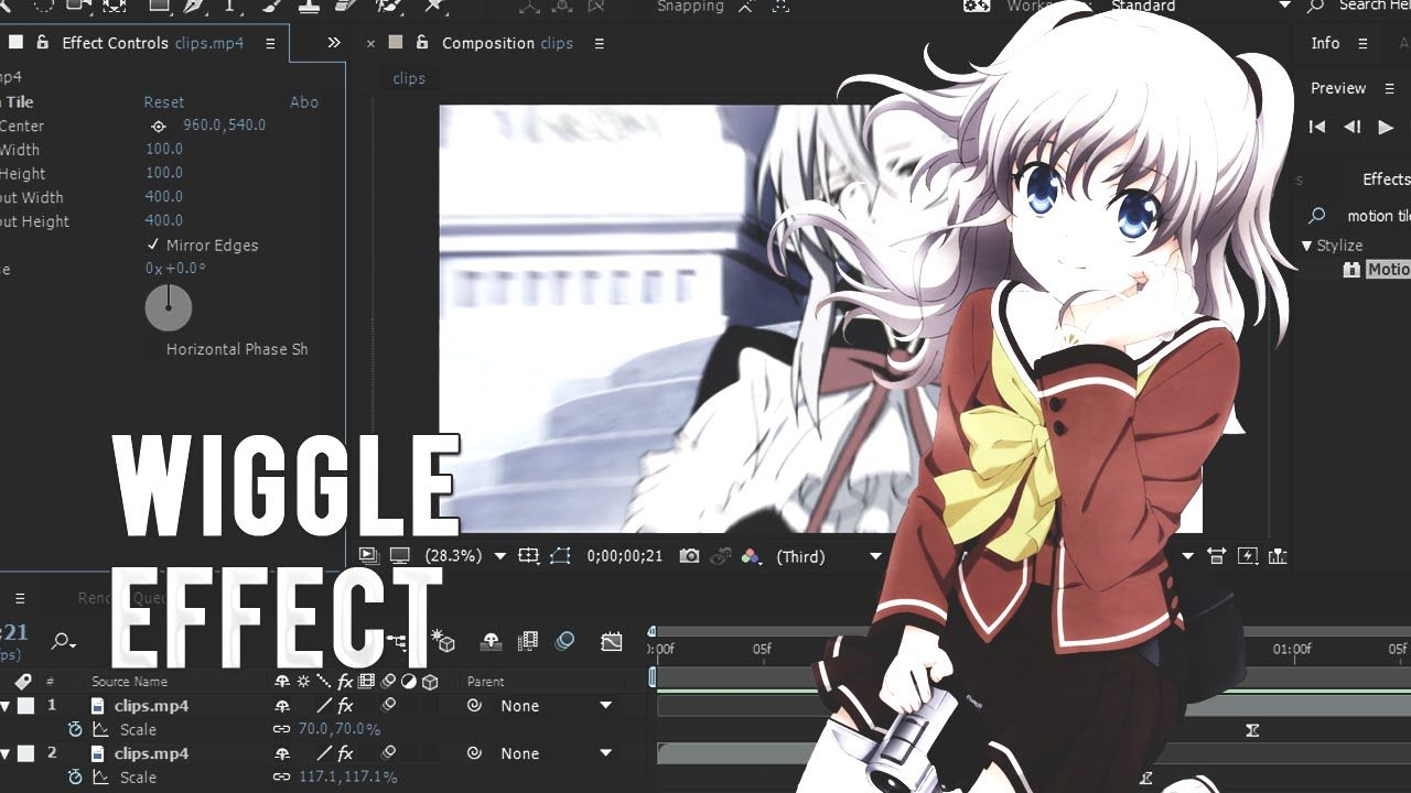 Anime AMV Wiggle Effect │Tutorial │Adobe After Effects